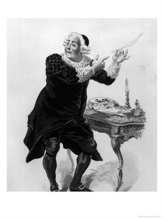 """Bartholo, Illustration from Act II Scene 11 of """"The Barber of Seville"""""""