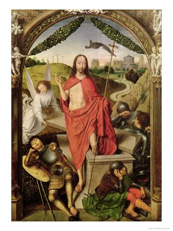 The Resurrection, Central Panel from the Triptych of the Resurrection, circa 1485-90
