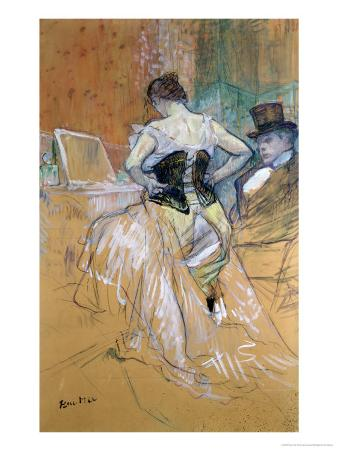 """Woman at Her Toilet, Study for """"Elles"""", circa 1896"""