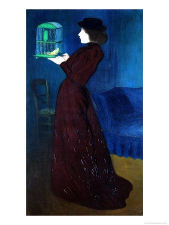 Woman with a Bird Cage