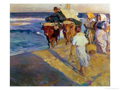 Towing in the Boat, Valencia Beach, 1916