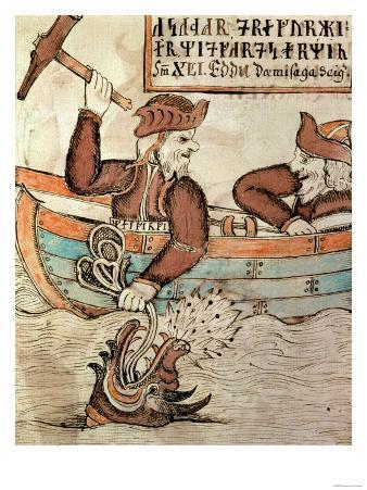Thor Fishing for the Serpent of Midgard, from the Boat of the Giant Hymir