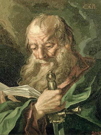 The Apostle Paul, by Matvei Vasilievich Vasiliev, 1769