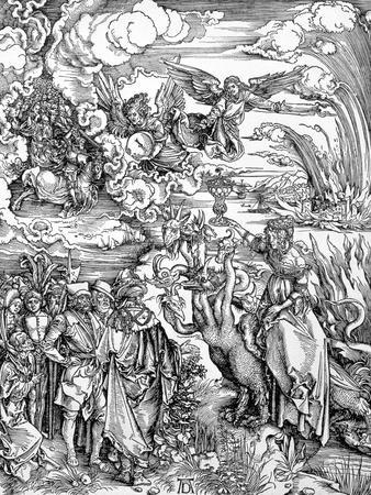 """The Babylonian Whore from the """"Apocalypse"""" or """"The Revelations of St. John the Divine"""", Pub. 1498"""