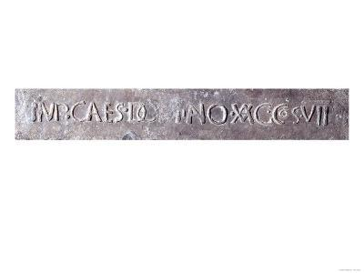 """A Roman """"Pig"""" or Ingot Recording the Year Emperor Domitian was Consul for the 7th Time, 81 AD"""