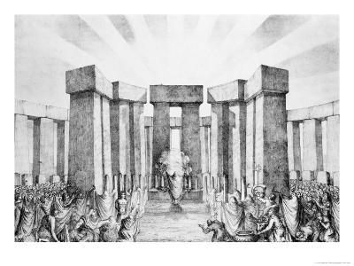 Druids Sacrificing to the Sun in Their Temple Called Stonehenge