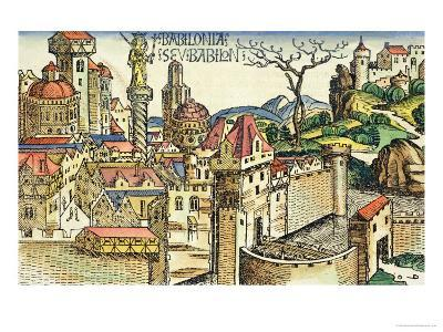 View of the Ancient City of Babylon, from the Nuremberg Chronicle by Hartmann Schedel 1493
