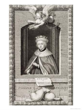 Edward V King of England in 1483, after a Portrait in a Book, Engraved by the Artist