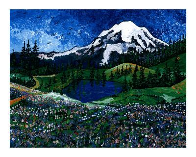 Mt Rainier Blue Sky