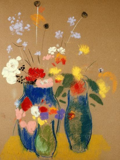 Three Vases Of Flowers Giclee Print By Odilon Redon At Allposters