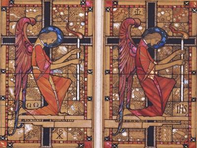 Two Designs for Stained Glass: Two Angels: and Madonna of the Woods