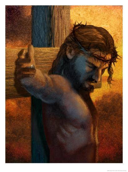 Jesus On Cross Art At Allposters Com