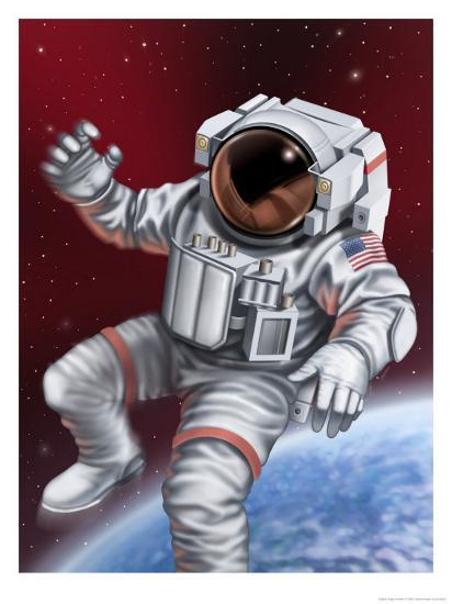 An Astronaut Floating Through Space Poster At Allposters Com