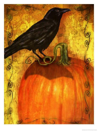 Crow Standing On Pumpkin Poster At Allposters Com