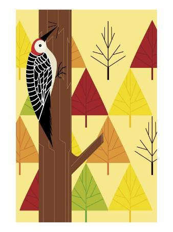 Woodpecker and Trees