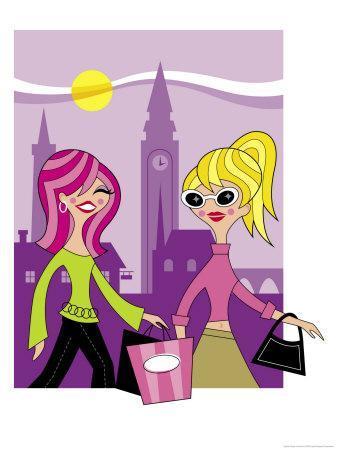 Women Shopping Overseas