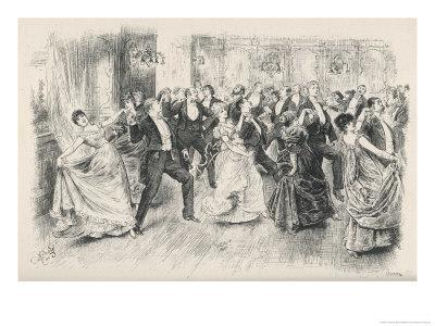 Cotillion Dancing in a Fashionable London Ballroom