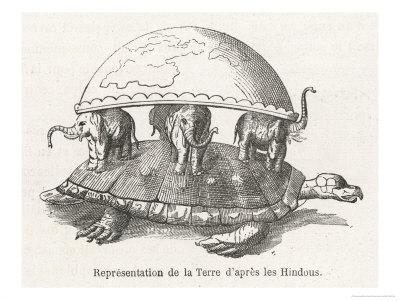 According to Hindu Belief the Earth is Supported on Elephants Standing on a Tortoise