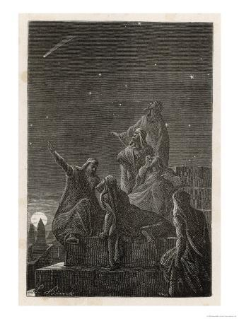 Astronomer-Priests of Chaldea Observe Stars from the Tower of Babylon