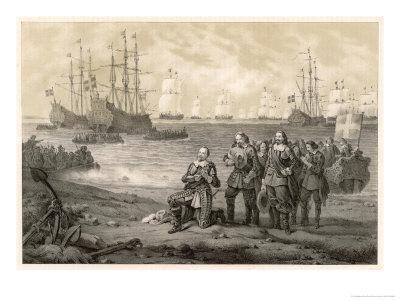 Gustaf Adolf King of Sweden Lands at Usedom