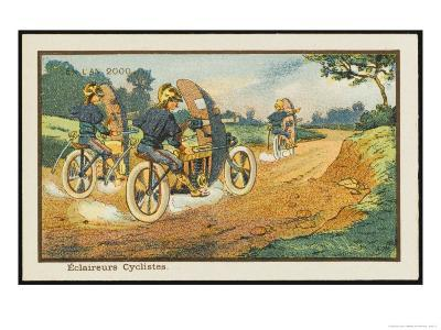Motor-Cycle Scouts on Reconnaissance