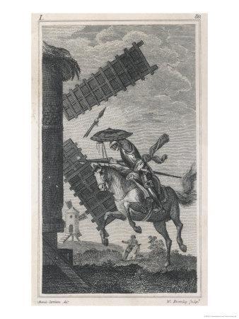 Don Quixote He Attacks the Windmill