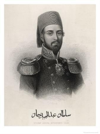 Abdul Mecid 1 (Or Mejid Medschid) Ottoman Sultan Ruled 1839-1861