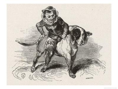 "An Irish ""Luricane"" Riding on a Dog"