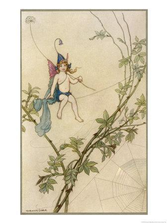 Puck Seated on a Spider's Thread