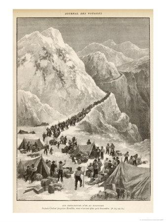 The Klondike Gold Rush, The Stream of Prospectors Making Their Way Across the Chilcot Pass