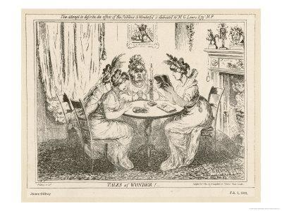 Tales of Wonder! Gillray Satire on the Taste for Gothic Novels