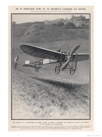 Louis Bleriot Flies the Channel Landing at Dover 37 Minutes after Take-Off from Near Calais