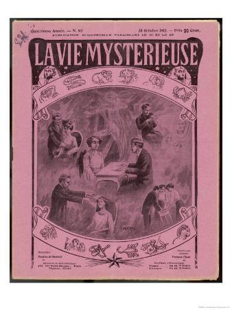 Various Psychic Powers Depicted on the Cover of a French Magazine
