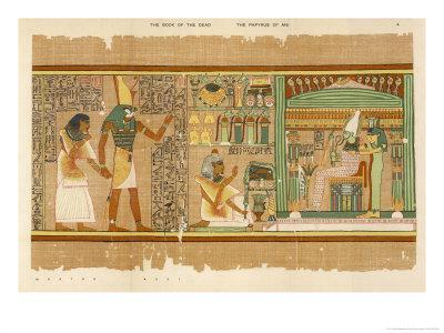 Papyrus of Ani the Dead Ani Judged Innocent is Presented by Horus to Osiris