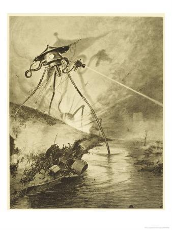 The War of the Worlds, The Martian Fighting-Machines in the Thames Valley