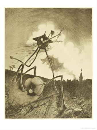 The War of the Worlds, a Martian Fighting-Machine in Action