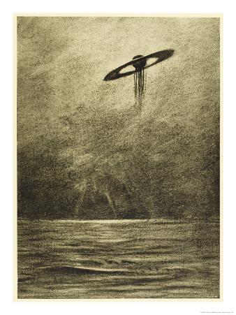 The War of the Worlds, The Martian Flying-Machine Over the English Channel