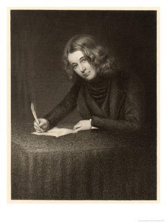 Charles Dickens English Writer Writing in 1842