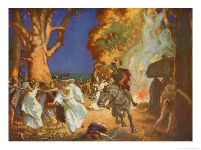 Romans Under Governor Suetonius Paulinus Massacre Druids in Anglesey