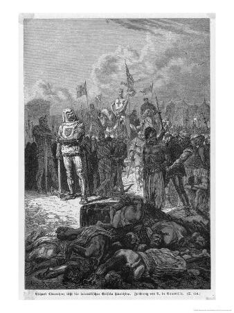 Third Crusade, Richard I Orders the Execution of Muslim Flagellants