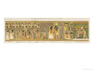 Judgement of the Dead Before Osiris in the Underworld