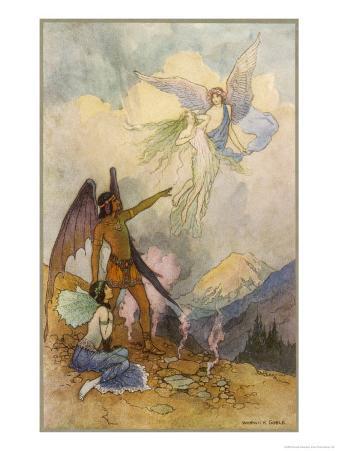 Fairies in a Mountain Landscape