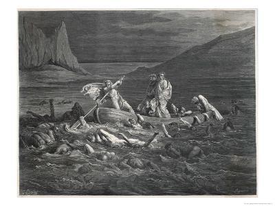 Virgil and Dante Cross the Styx