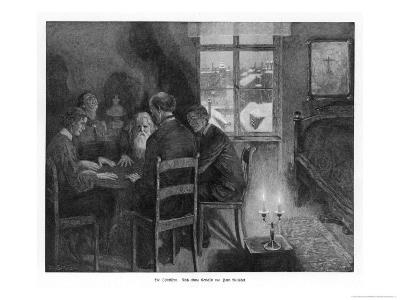 Spirit Seance in a Garret on a Winter Evening in Germany