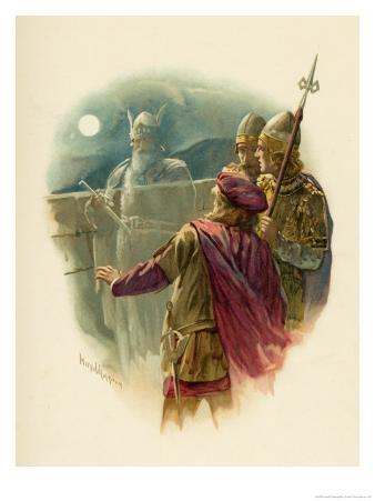 The Ghost of Hamlet's Father Appears on the Battlements of Elsinore and Alarms the Sentries