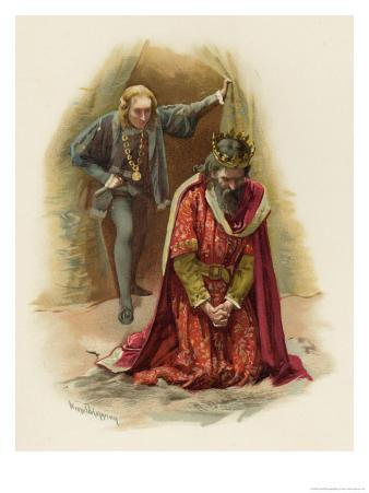 Hamlet Finds Claudius Praying But Refrains from Killing Him While in a State of Grace
