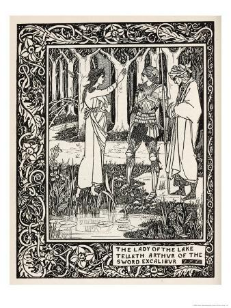 Arthur Learns of the Sword Excalibur from the Lady of the Lake