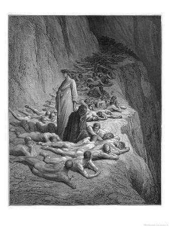 Virgil Advises Dante Not to Feel Too Sorry for the Damned in Hell, They Earned Their Place There