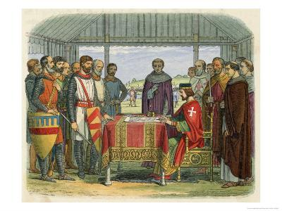 King John Pressured by the Barons and Threatened with Insurrection