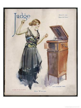 Boy Wanted! a Girl on Her Own Plays Her Phonograph